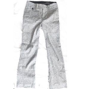 Club Monaco grey pants with white pinstripes sz 0